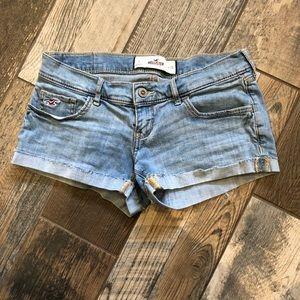 Hollister light wash denim shorts